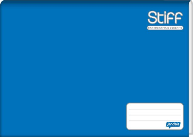 Caderno de Desenho Jandaia Stiff Brochura Vertical Azul 96 f