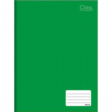 Caderno Foroni 1X1 Class Verde Brochura 96 folhas