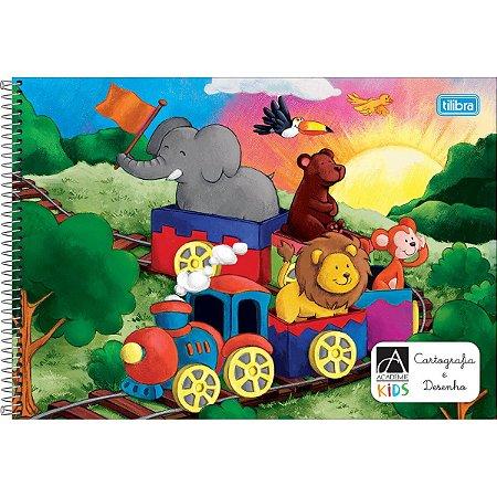 Caderno Meia Pauta Tilibra Acadêmie Kids Espiral 40 folhas