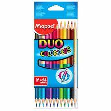 Lápis de Cor Maped Color Peps Duo com 12 Unidades