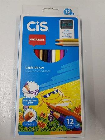 Lápis de Cor Cis Nataraj Super Color 4mm com 12 Unidades