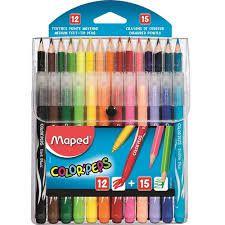 Kit Maped Lápis Cor + Hidrocor Color Peps