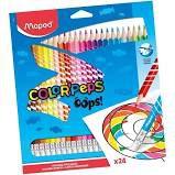 Lápis de Cor Maped Color Peps Apagável com 24 unidades