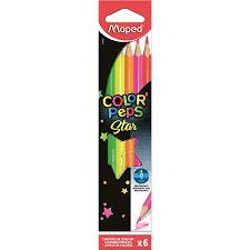 Lápis de Cor Maped Color Peps Fluo com 6 Unidades