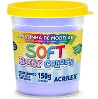 Massa de Modelar Acrilex 150G Baby Color Lilás Bebê