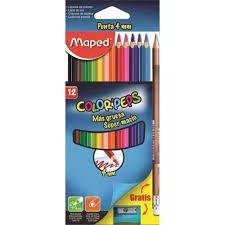 Lápis de Cor Maped Color Peps 4mm com 12 Unidades + Lápis +