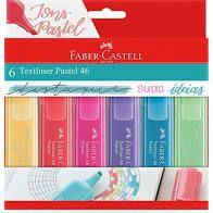 Kit Marca Texto Faber Castell Tons Pastel com 6 cores