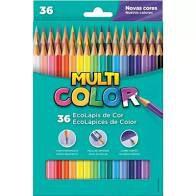 Lápis de Cor Faber Castell Multicolor Super com 36 Unidades