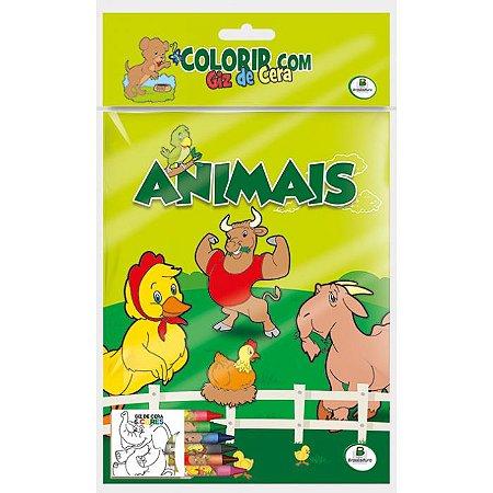Colorir Com Giz de Cera Animais - Todo Livro