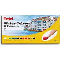 Water Colours Pentel Arts com 12 Bisnagas