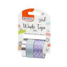 Washi Tape Brw Shine Lilas 3 Rolos de 3M