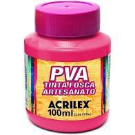 Tinta Pva Acrilex Fosca Rosa Escuro 100Ml