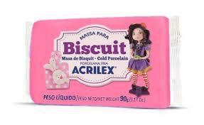 Massa de Biscuit Acrilex Rosa Escuro 90G