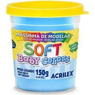 Massa de Modelar Acrilex 150G Baby Color Azul Bebe