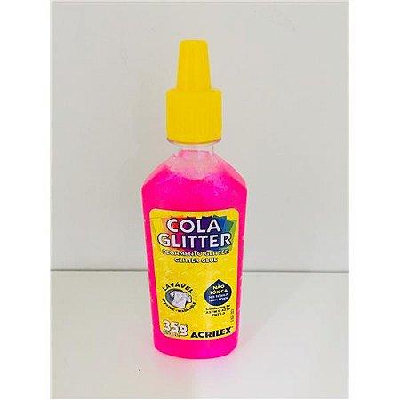 Cola com Glitter Acrilex Pink 35G