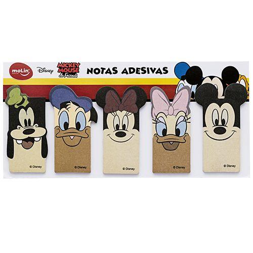 Marcador de Páginas Molin Mickey com 25 folhas cada