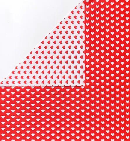 Papel Dupla Face Coração Vermelho/Bco Premiatta 48x66cm