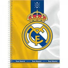 Caderno Foroni 1X1 Real Madrid Espiral 96 folhas