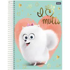 Caderno Foroni 1X1 Pets Espiral 96 folhas