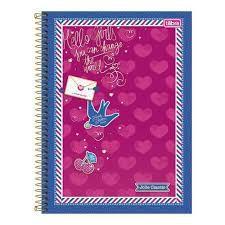 Caderno Tilibra 1X1 Jolie Classic Espiral 96 folhas