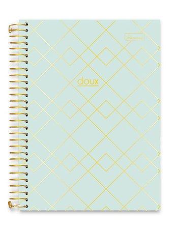 Caderno Cadersil 15x1 College Doux Verde 240 folhas