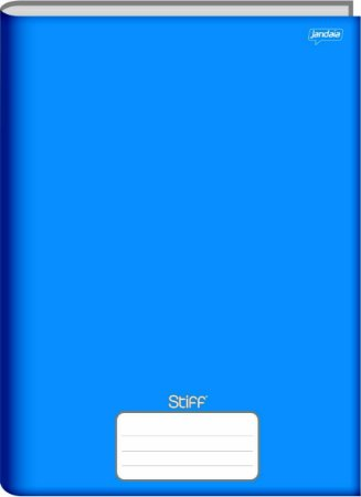 Caderno Jandaia 1x1 Stiff Azul Brochura 48 folhas