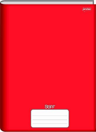 Caderno Jandaia 1x1 Stiff Vermelho Brochura 96 folhas