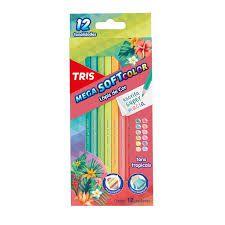 Lápis de Cor Tris Tons Tropicais 12 Unidades