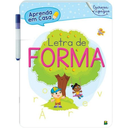 Escreva e Apague Letra de Forma - Editora Todo Livro