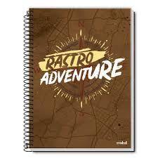 Caderno Credeal 1X1 Rastro Adventure Espiral 96 folhas