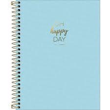 Caderno Tilibra 10X1 Happy College Azul Day 160 folhas