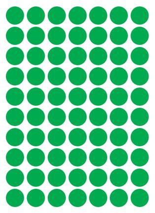 Etiqueta Colacril Bola 13mm Verde 420 Unidades