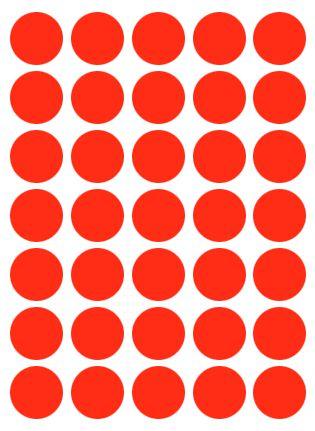 Etiqueta Colacril Bola 19mm Vermelho 210 Unidades
