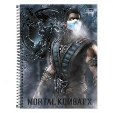 Caderno Tilibra 10X1 Mortal Kombat X 160 folhas