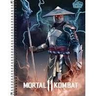 Caderno Tilibra 10X1 Mortal Kombat Raiden 160 folhas