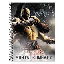 Caderno Tilibra 10X1 Mortal Kombat X Goro 160 folhas