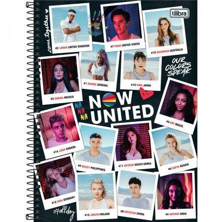 Caderno Tilibra 10X1 Now United Fotos 160 folhas