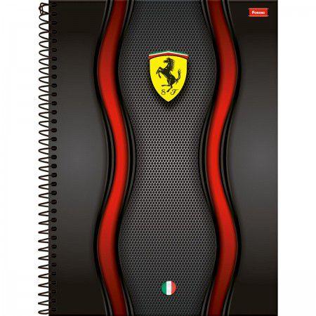 Caderno Foroni 10X1 Ferrari Pista Ondulada 200 folhas