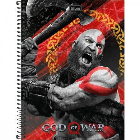 Caderno Tilibra 10X1 God Of War Kratos 160fls