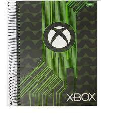 Caderno Jandaia 10X1 X Box Emblema Branco e Preto 200 folhas