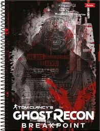 Caderno Foroni 10X1 Ghost Recon We Are Summoning 200 folhas