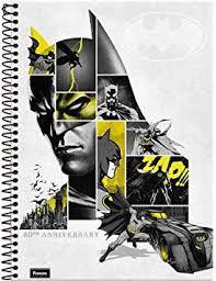 Caderno Foroni 10X1 Batman 80Anos Capa Cinza 200 folhas