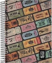 Caderno Jandaia 10X1 Eco Way Ticket 200 folhas