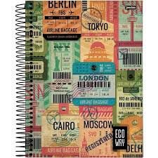 Caderno Jandaia 10X1 Eco Way London 200 folhas