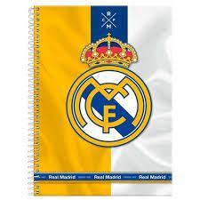 Caderno Foroni 10X1 Real Madri Coroa e Símbolo 200fls
