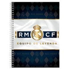 Caderno Foroni 10X1 Real Madri Equipo de Leyenda 200 folhas