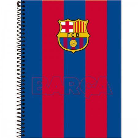 Caderno Foroni 10X1 Barcelona Barça Listras 200 folhas