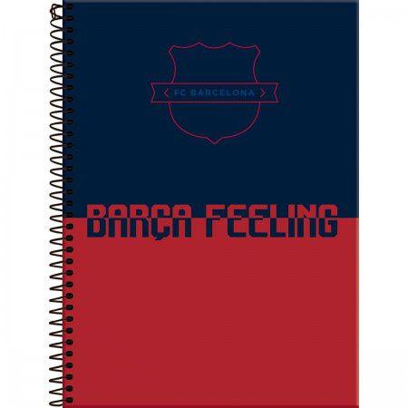 Caderno Foroni 10X1 Barcelona Barça Feeling 200 folhas