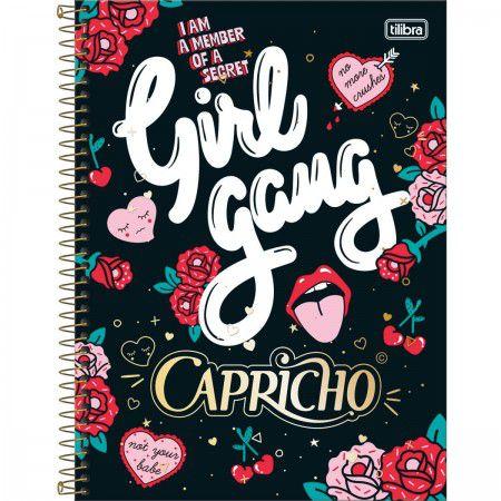 Caderno Tilibra 10x1 Capricho Girl Gang 200 folhas