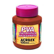 Tinta Pva Acrilex Fosca Vermelho Escarlate 100Ml